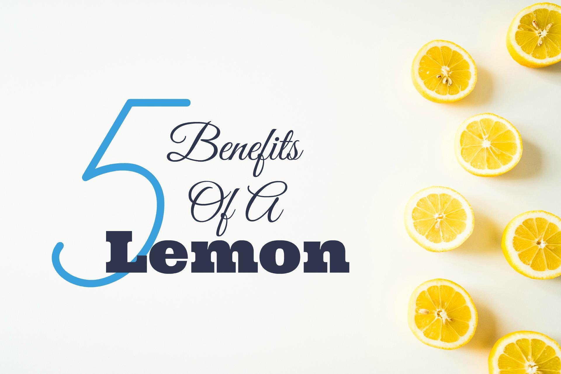 Les 5 avantages d'un citron